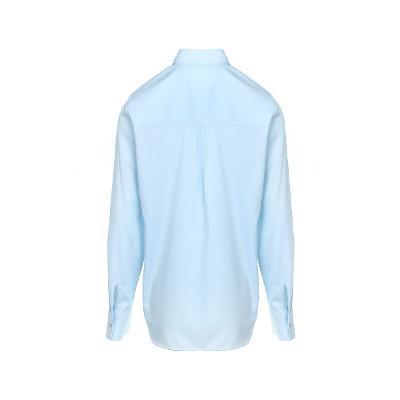 pin-tuck detail shirt blue 1